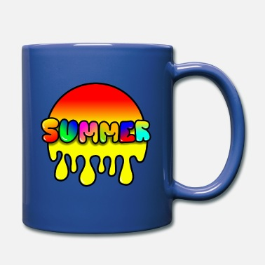 Summer Travel Graffiti Art Color Shirt Design Gift - Full Color Mug