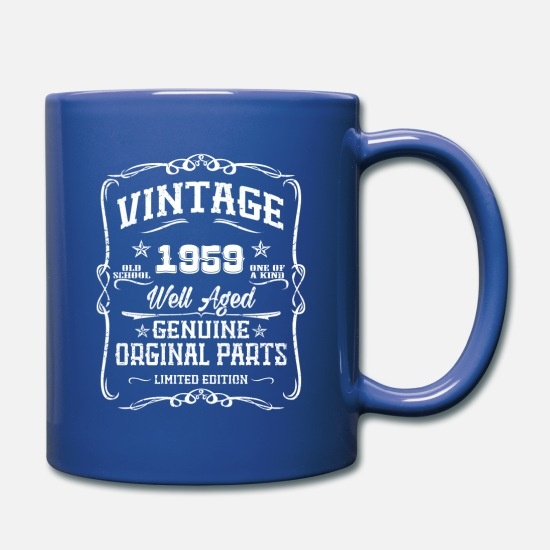 1959 Mugs & Drinkware - Vintage 1959 - Full Color Mug royal blue