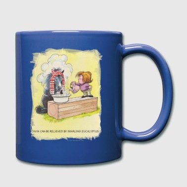 Thelwell Sleeping Horse Inhaling Eucalyptus - Full Color Mug