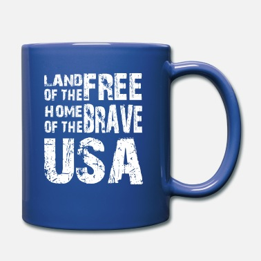 Home Free LAND OF THE FREE HOME OF THE BRAVE USA - Full Color Mug