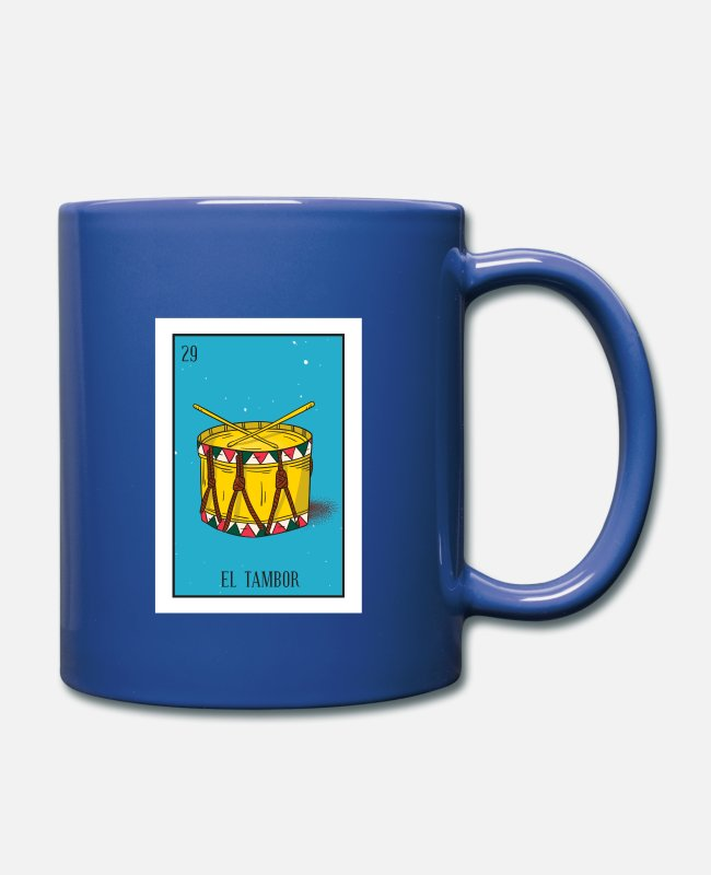 Bet Mugs & Cups - El Tambor Card Gift The Drum Card Mexican Lottery - Full Color Mug royal blue