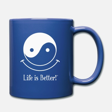 Smile Yin and Yang - Life is Better!® - Full Color Mug
