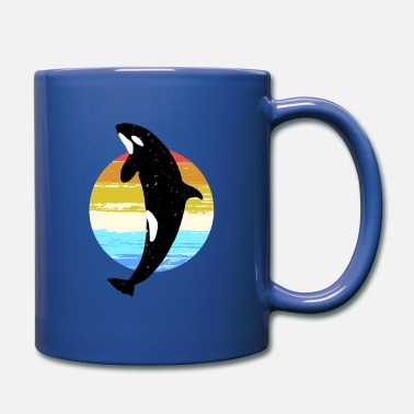 Rainbow Whale orca killer whale favorite animal gift - Full Color Mug