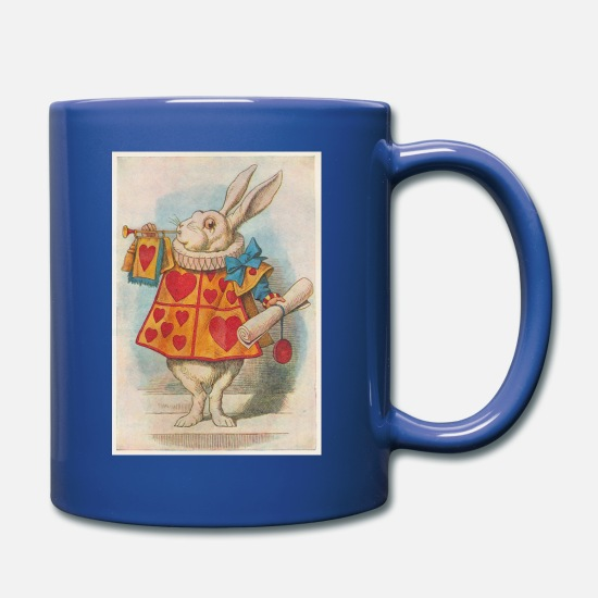 Wonderland Mugs & Drinkware - The White Rabbit - Full Color Mug royal blue