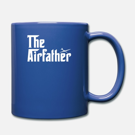 Glider Mugs & Drinkware - The Airfather Glider Pilot - Full Color Mug royal blue