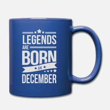 Born Legends Legends Are Born In December - Full Color Mug