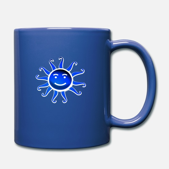 Sunlight Mugs & Drinkware - sun - Full Color Mug royal blue