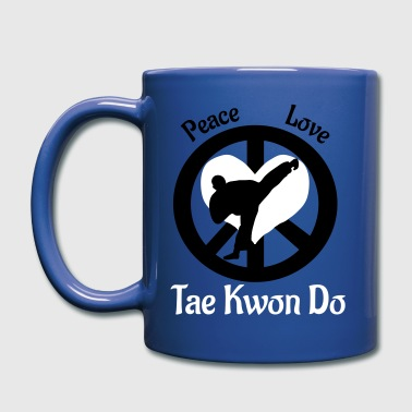 Peace Love Tae Kwon Do - Full Color Mug