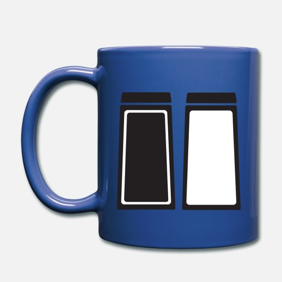Pepper Mugs & Drinkware - Salt and Pepper - Full Color Mug royal blue