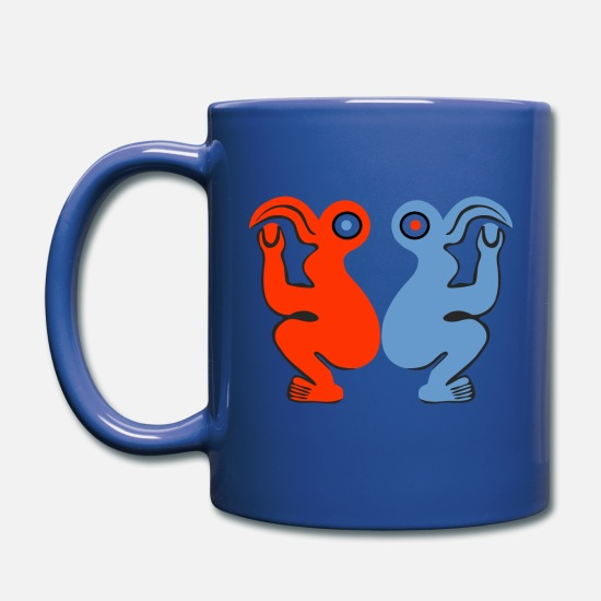 Man Mugs & Drinkware - Eastern Island Bird Man - Full Color Mug royal blue
