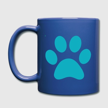 blue PAW PRINT - Full Color Mug