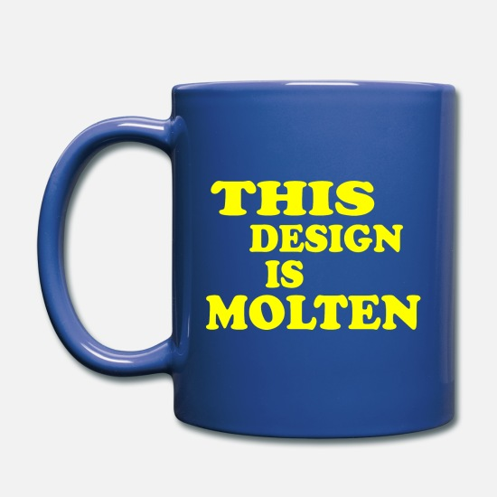 Usa Mugs & Drinkware - This Design is molten - Design by Milaino - Full Color Mug royal blue