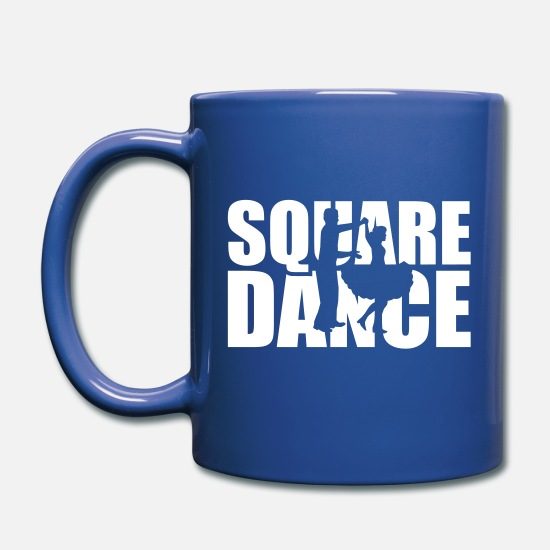 Square Mugs & Drinkware - Square dance - Full Color Mug royal blue