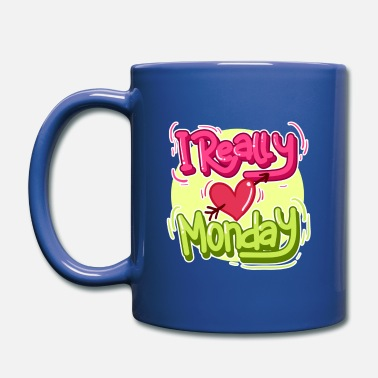 Typo Collection I really love Monday! - Full Color Mug