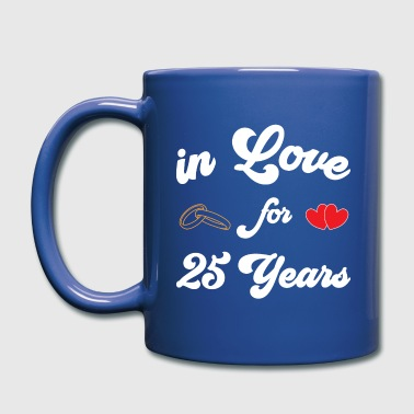 Shirt silver wedding anniversary married 25 years - Full Color Mug