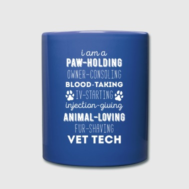Paw-holding Vet Tech Veterinary T-shirt - Full Color Mug