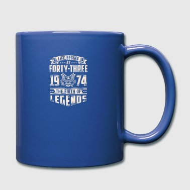 Life Begins At Forty Three Tshirt - Full Color Mug