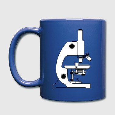 Microscope With Labels - Full Color Mug