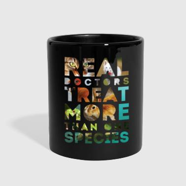 Real doctors treat more than one species - Full Color Mug