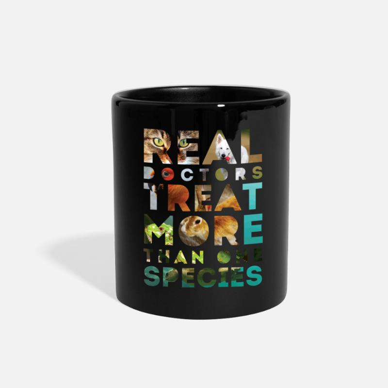 Medicine Mugs & Drinkware - Real doctors treat more than one species - Full Color Mug black