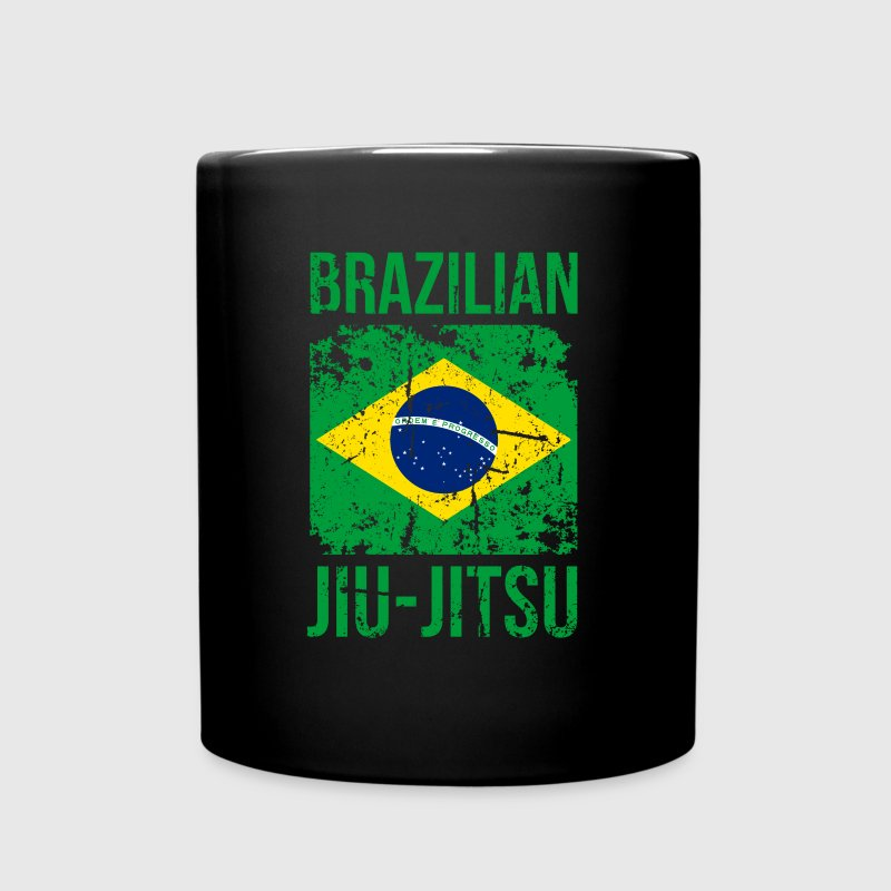 BJJ Brazilian Jiu Jitsu Flag Martial Arts T Shirt - Full Color Mug