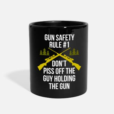 Funny Hunting Gun safety rule #1 Hunter T Shirt - Full Color Mug