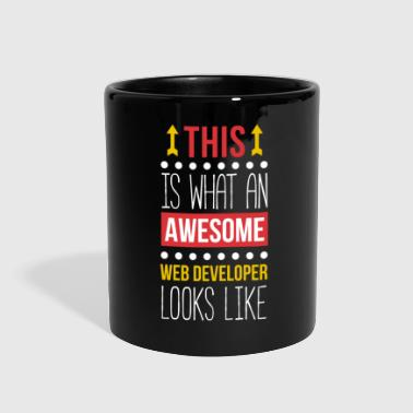 Awesome Web Developer Professions T Shirt - Full Color Mug