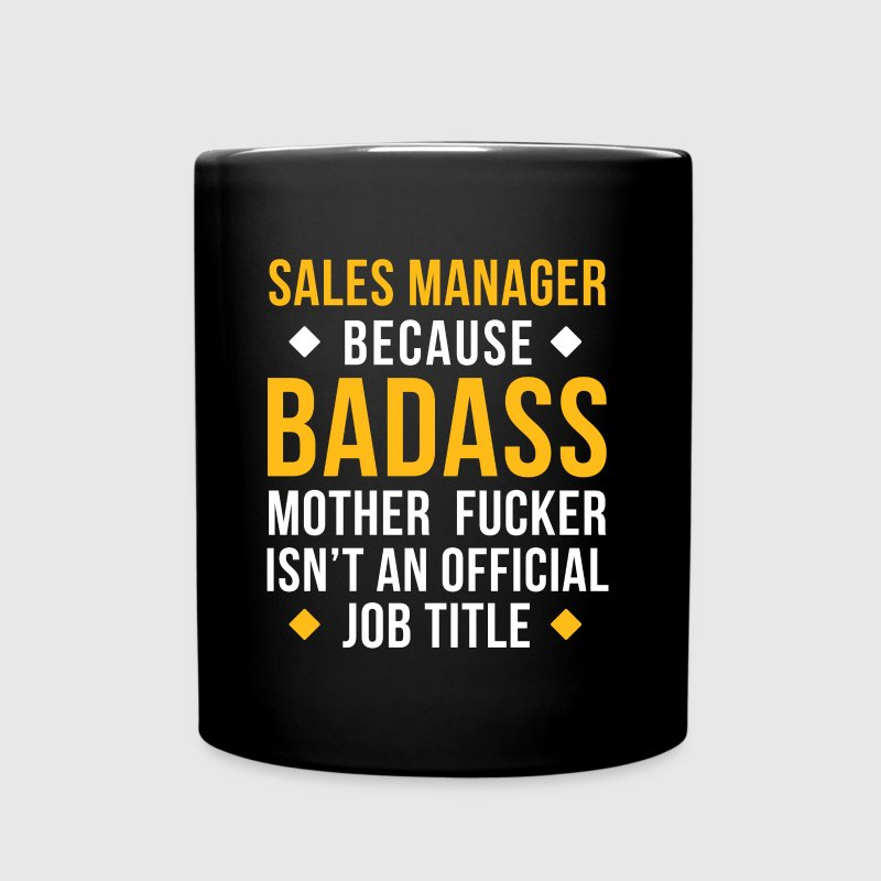 Badass Sales Manager Professions T Shirt - Full Color Mug