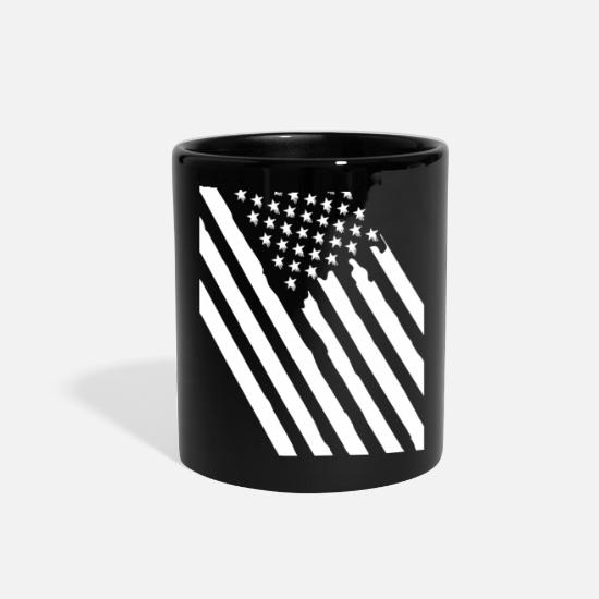 Gift Idea Mugs & Drinkware - US Flag - Full Color Mug black