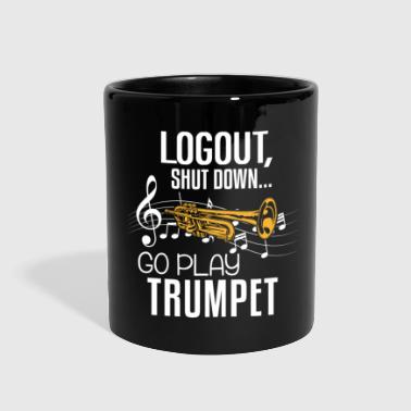 Association Trumpet Shirt - Brass Music - Log out - Full Color Mug