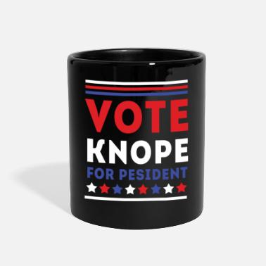 For Her &amp Parks and Recreation Vote Knope TV & Movie T-shirt - Full Color Mug
