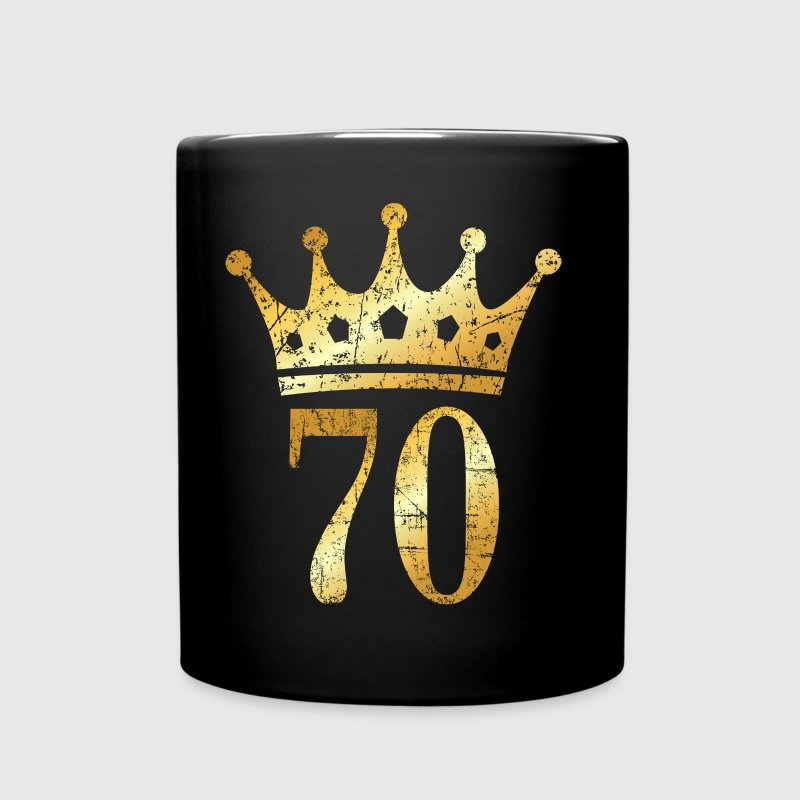 70th Birthday & Anniversary Crown (Vintage Gold) - Full Color Mug