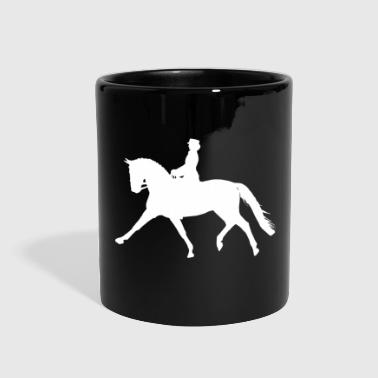 Dressage Horse - white - Full Color Mug