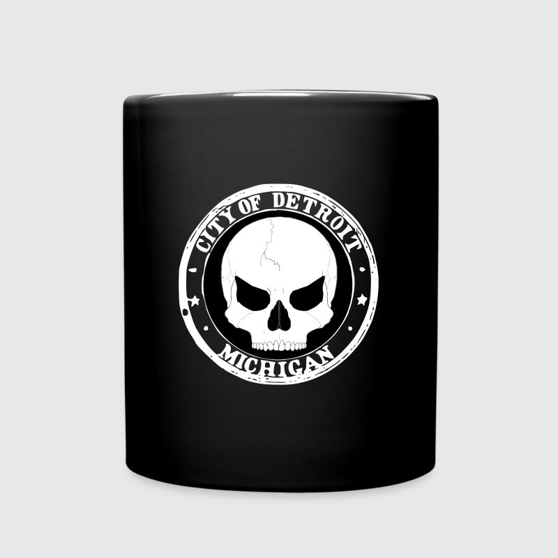 Detroit deadly skull - Full Color Mug