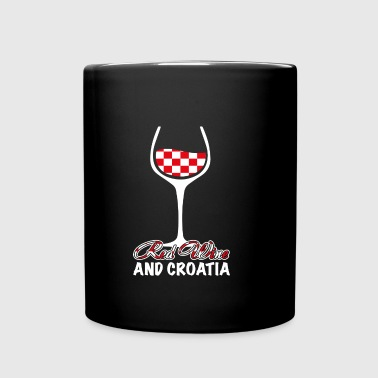 red wine and croatia - Full Color Mug