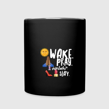 Wake Pray Sisterlocks SLay - Full Color Mug