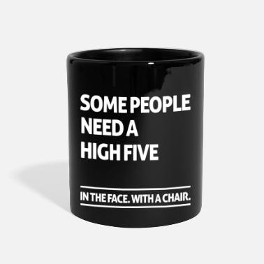 Five Some people need a high five (dark) - Full Color Mug