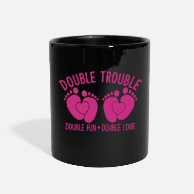 Bass double trouble - double fun - double love - Full Color Mug