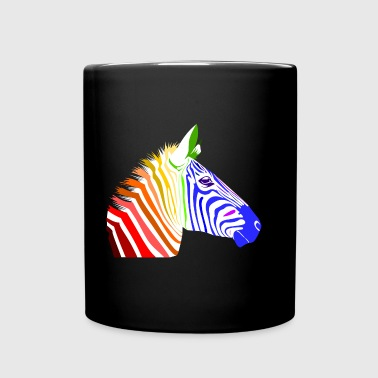 Zebra; Punk Zebra; Rainbow Zebra - Full Color Mug