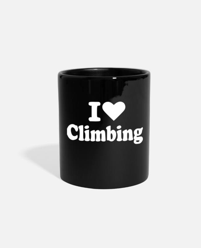 Mountains Mugs & Cups - love climbing1 - Full Color Mug black