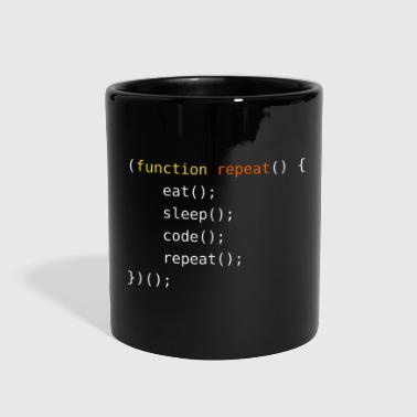 Eat, Sleep, Code, Repeat - Full Color Mug
