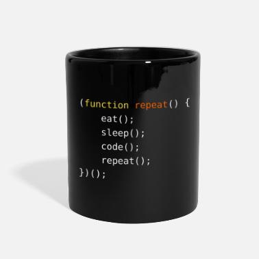 Coder Eat, Sleep, Code, Repeat - Full Color Mug