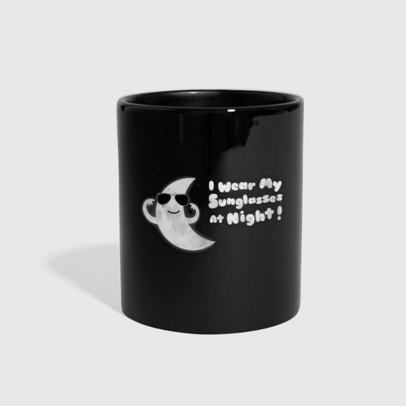 Funny Moon - I Wear My Sunglasses At Night - Full Color Mug