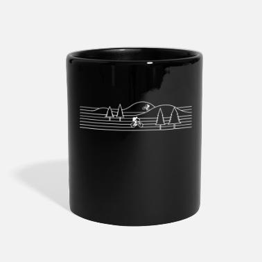 Mountain Biking mountain biking mountain bike cycling - Full Color Mug