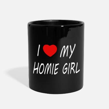Christmas Present i love my Home Girl mit Herz - Full Color Mug