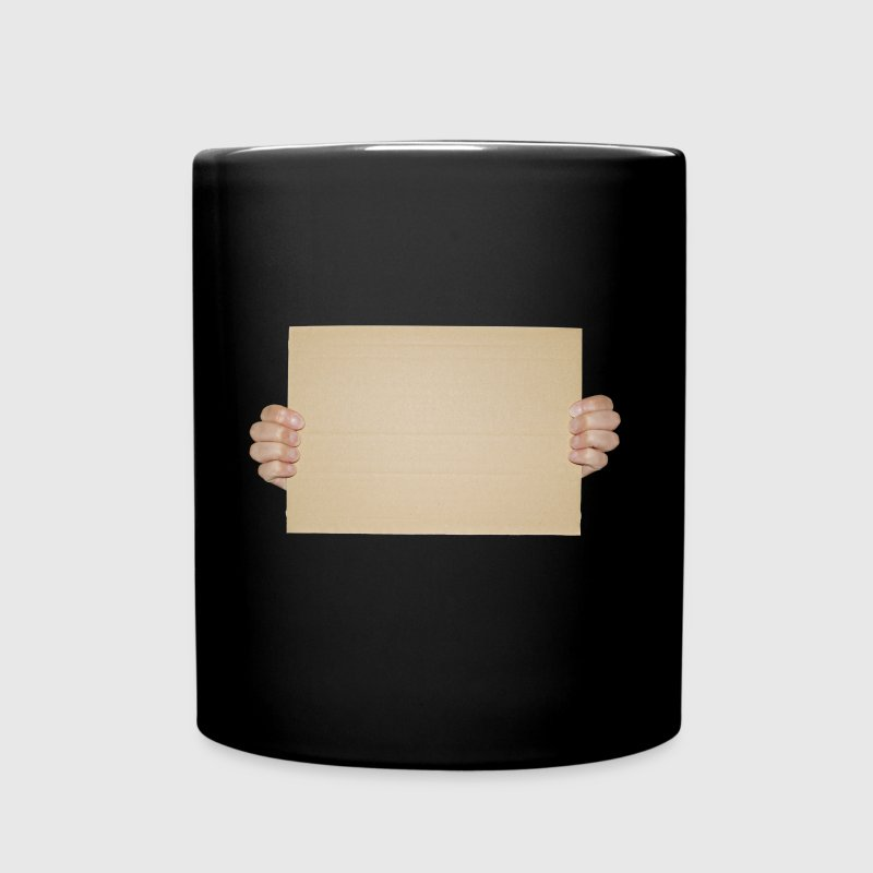 Blank Cardboard Sign Template - Full Color Mug