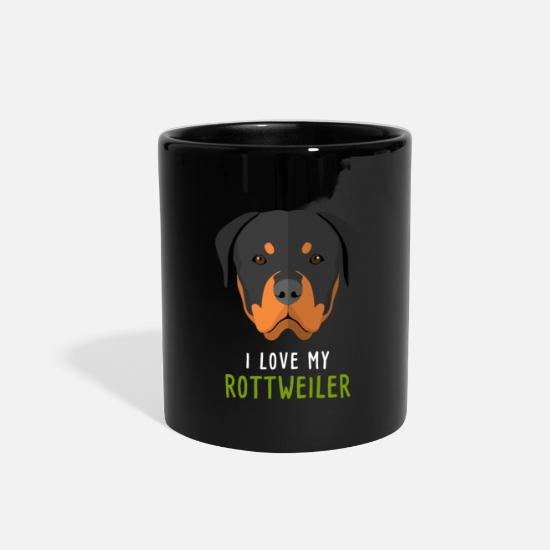 Animal Mugs & Drinkware - I love my rottweiler - Full Color Mug black