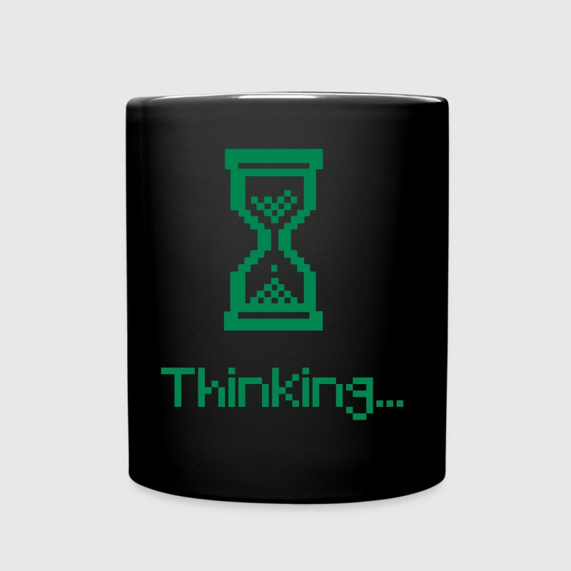 nerd thinking retro gamer  - Full Color Mug