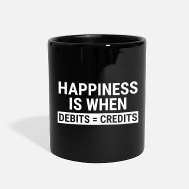 5bad944c Accounting Funny Accountant Happiness Debits Credits T-shirt - Full Color  Mug