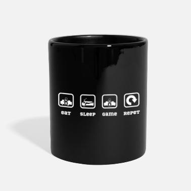 Lets Play eat sleep game repeat - Full Color Mug